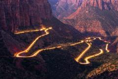 Zion-Mt. Carmel HIghway Light Trails