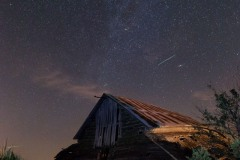 Old Barn with Meteors & Fireflies