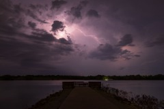 Lightning over Stagecoach Lake, Hickman, NE